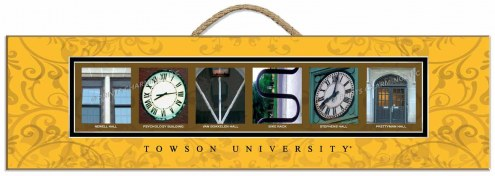 Towson Tigers Campus Letter Art