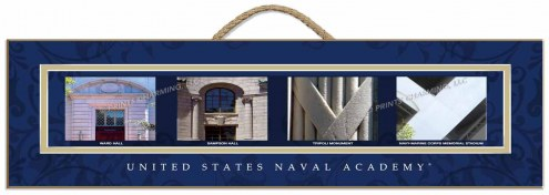 Navy Midshipmen Campus Letter Art