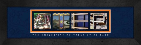 UTEP Miners Campus Letter Art