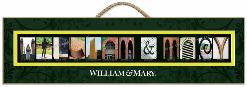 William & Mary Tribe Campus Letter Art