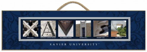 Xavier Musketeers Campus Letter Art