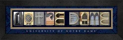 Notre Dame Fighting Irish Campus Letter Art