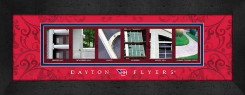 Dayton Flyers Campus Letter Art
