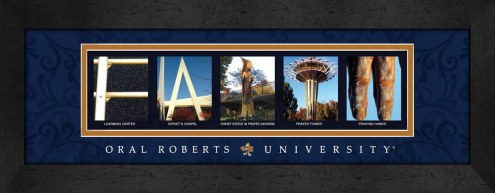 Oral Roberts Golden Eagles Campus Letter Art