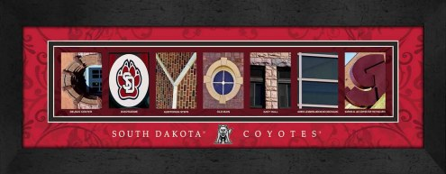 South Dakota Coyotes Campus Letter Art