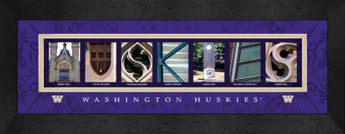 Washington Huskies Campus Letter Art