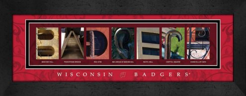 Wisconsin Badgers Campus Letter Art