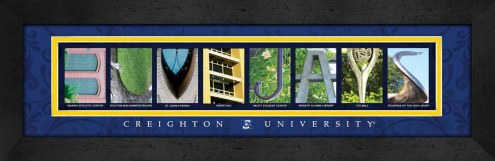 Creighton Bluejays Campus Letter Art