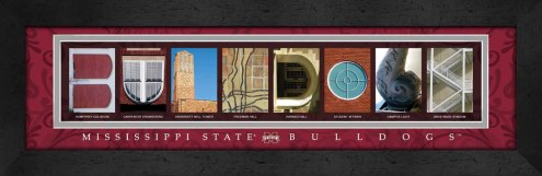 Mississippi State Bulldogs Campus Letter Art