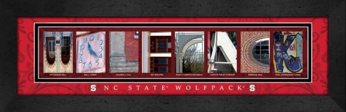 North Carolina State Wolfpack Campus Letter Art