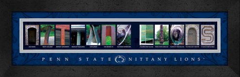 Penn State Nittany Lions Campus Letter Art