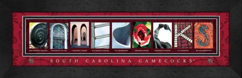 South Carolina Gamecocks Campus Letter Art