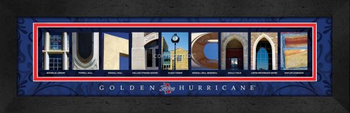 Tulsa Golden Hurricane Campus Letter Art