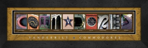 Vanderbilt Commodores Campus Letter Art