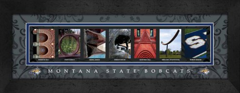 Montana State Bobcats Campus Letter Art