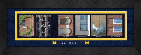 Michigan Wolverines Campus Letter Art