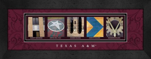 Texas A&M Aggies Campus Letter Art