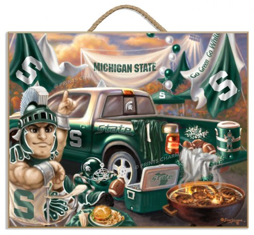 Michigan State Spartans Tailgate Plaque