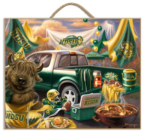 North Dakota State Bison Tailgate Plaque