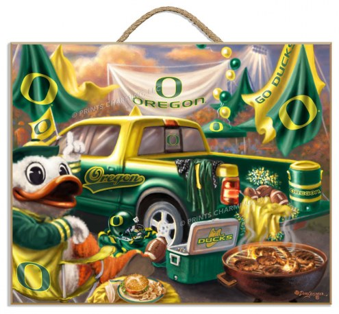 Oregon Ducks Tailgate Plaque