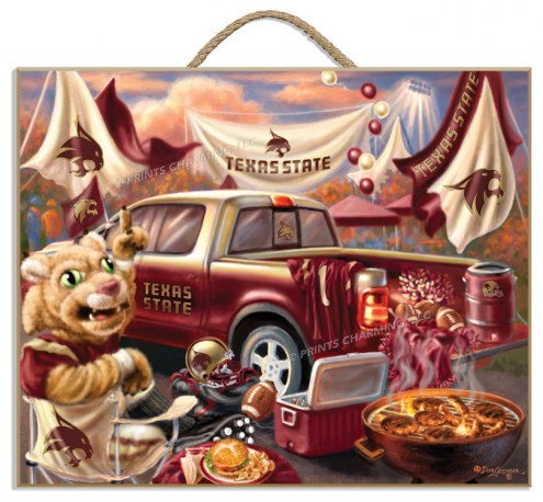 Texas State Bobcats Tailgate Plaque