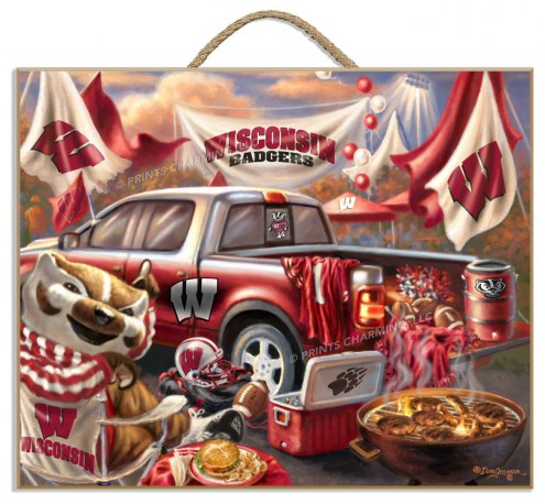 Wisconsin Badgers Tailgate Plaque