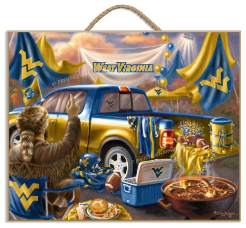 West Virginia Mountaineers Tailgate Plaque