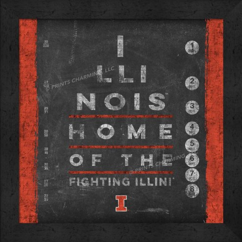 Illinois Fighting Illini Eye Chart