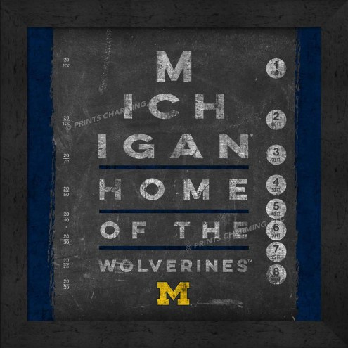 Michigan Wolverines Eye Chart