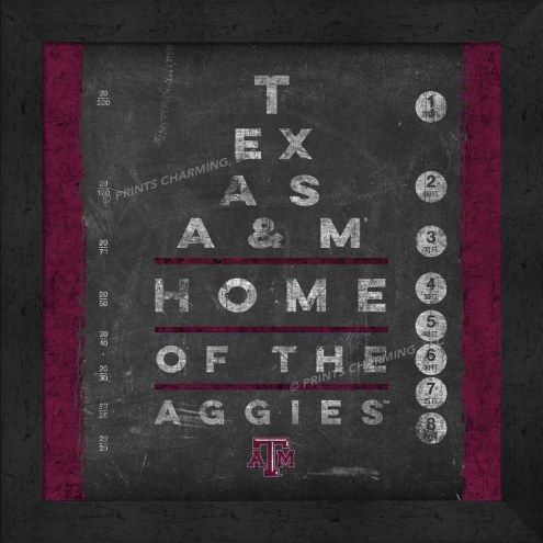 Texas A&M Aggies Eye Chart