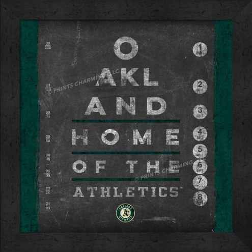 Oakland Athletics Eye Chart