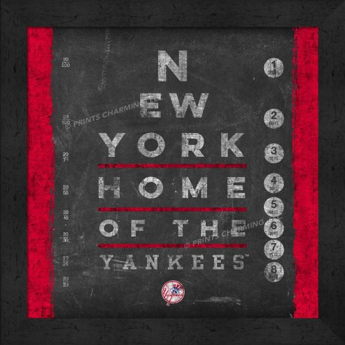 New York Yankees Eye Chart