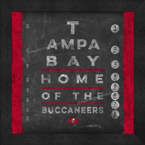 Tampa Bay Buccaneers Eye Chart