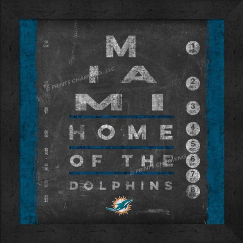 Miami Dolphins Eye Chart