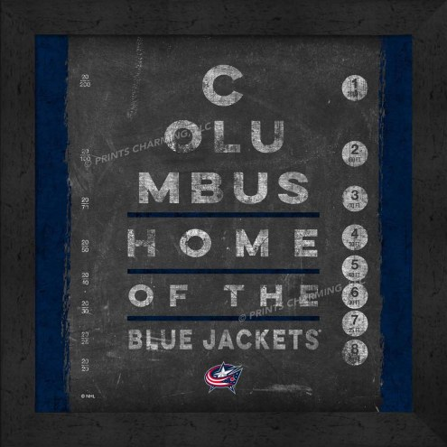 Columbus Blue Jackets Eye Chart