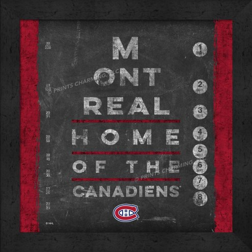 Montreal Canadiens Eye Chart