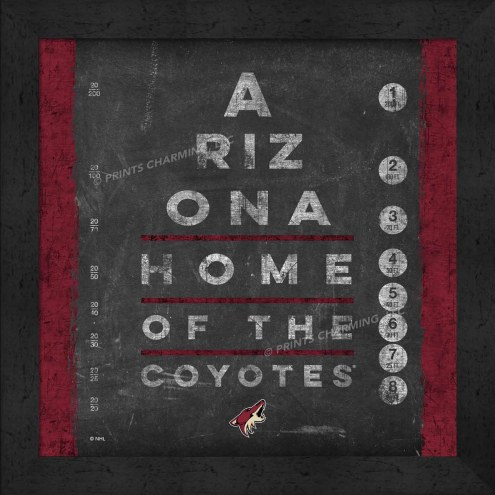 Arizona Coyotes Eye Chart