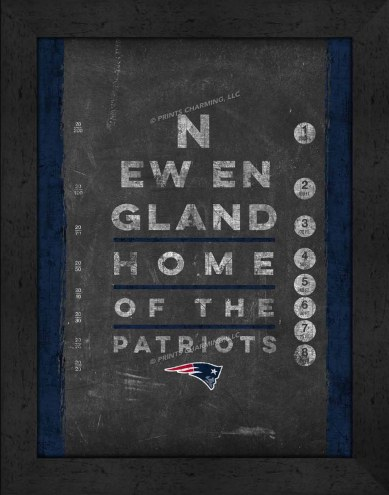 New England Patriots Eye Chart