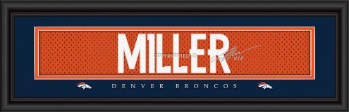 Denver Broncos Miller Framed Signature Nameplate