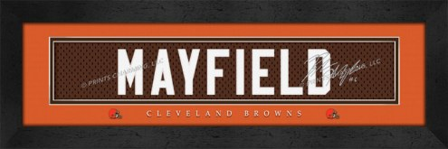 Cleveland Browns Mayfield Framed Signature Nameplate