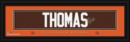 Cleveland Browns Thomas Framed Signature Nameplate
