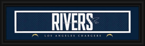 Los Angeles Chargers Rivers Framed Signature Nameplate