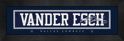 Dallas Cowboys Vander Esch Framed Signature Nameplate
