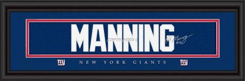New York Giants Manning Framed Signature Nameplate