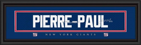 New York Giants Pierre Framed Signature Nameplate