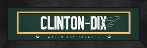 Green Bay Packers Clinton Framed Signature Nameplate