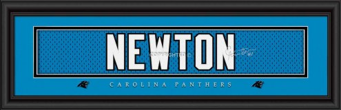 Carolina Panthers Newton Framed Signature Nameplate