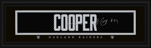 Las Vegas Raiders Cooper Framed Signature Nameplate