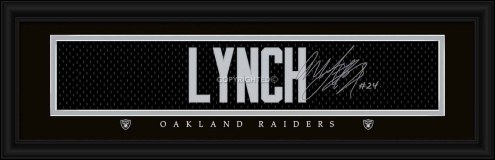 Las Vegas Raiders Lynch Framed Signature Nameplate