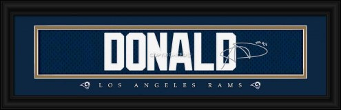 Los Angeles Rams Donald Framed Signature Nameplate